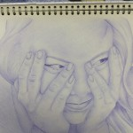 Samantha Matthews' personal investigation on portraits using simply a biro pen