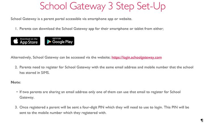 School Gateway 3 Step Set-Up photo