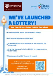 OUR SCHOOL IS STARTING A LOTTERY - image smaller